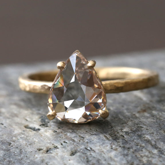 2.07ct pear shape diamond ring