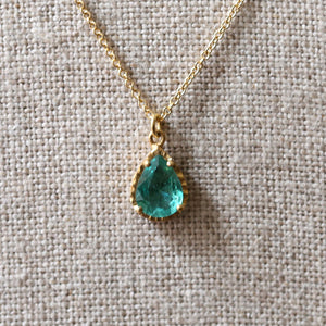 Watery Emerald necklace
