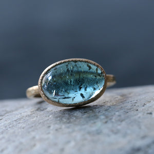 5.35ct Blue Lagoon Tourmaline Ring