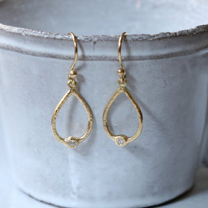 Open tear drop earrings