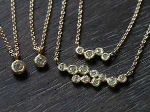 10 bezel diamond necklace