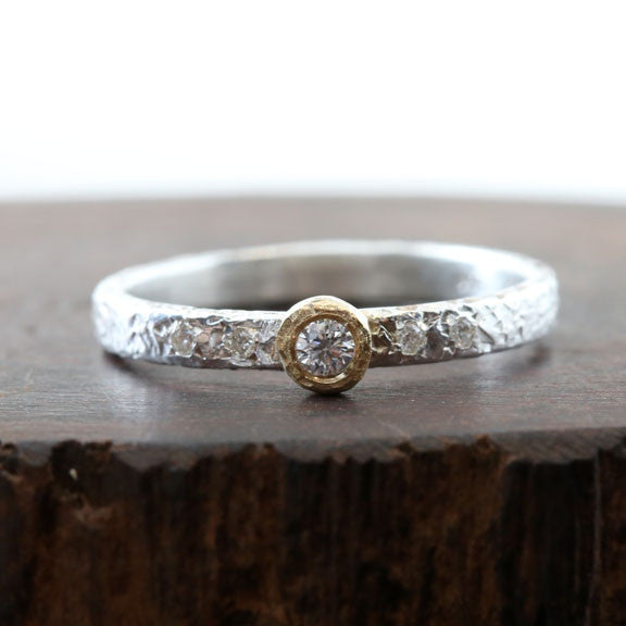 Moonlight Bezel ring