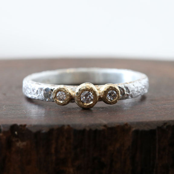 Moonlight Bezel ring , 3-bezel