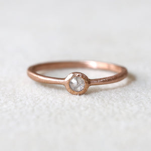 3mm grey diamond ring