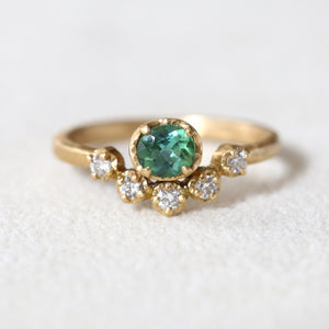 Green tourmaline muguet  ring