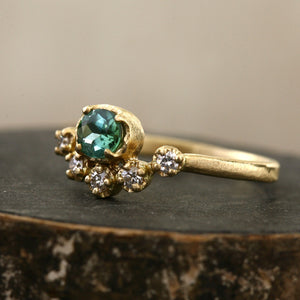 Muguet ring / Green tourmaline