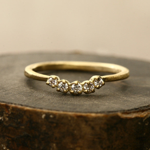 Small Muguet 5 diamond Ring