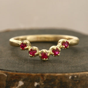 Muguet 5 Ruby Ring