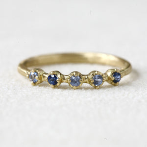Light and medium blue Sapphire