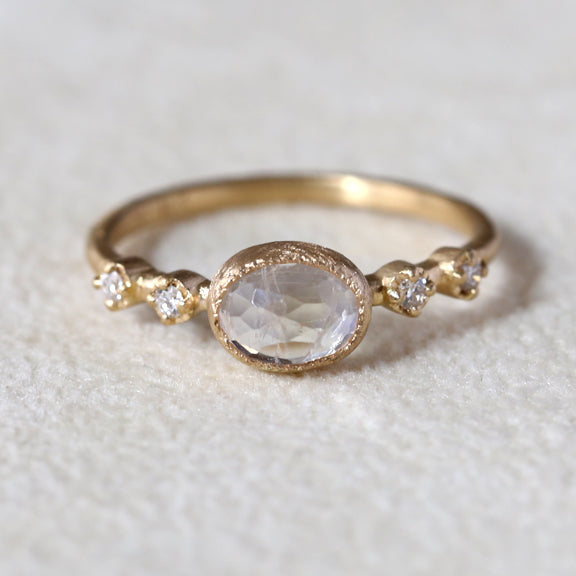 Moonstone muguet ring