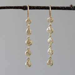 Nugget diamond earrings