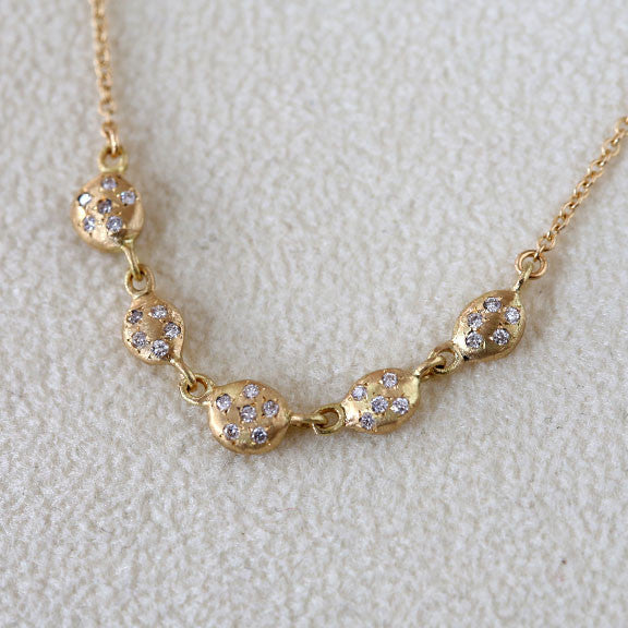 Nugget diamond necklace