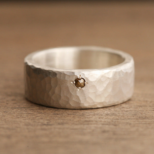 Natural color diamond ring