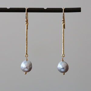 Akoya Baroque Bar Earrings