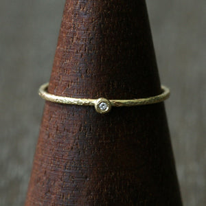 1.1mm diamond textured ring