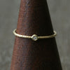 1.3mm diamond textured ring