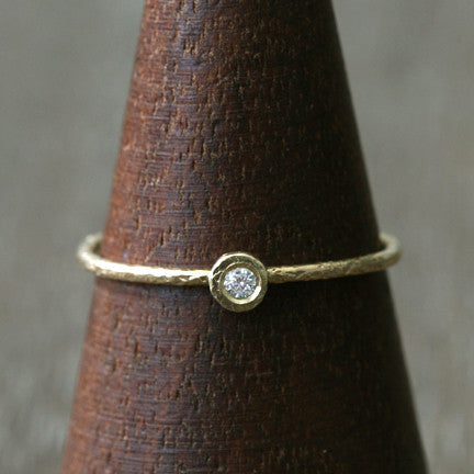 1.8mm diamond textured ring