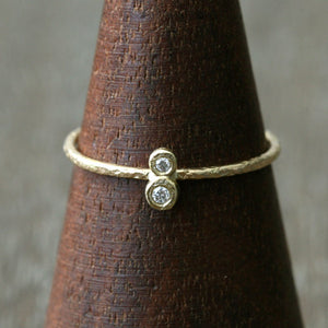 1.3 / 1.5 mm diamond textured ring