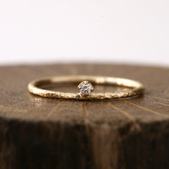 2mm diamond textured ring
