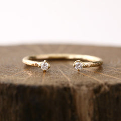 1.9mm white diamond textured ring