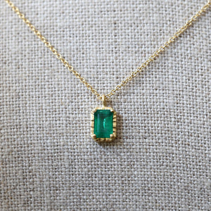 0.60ct Emerald necklace
