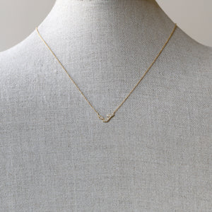 3-leaf curve necklace