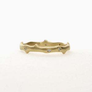 18k Thorn Dia Ring