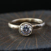 1carat diamond bezel ring