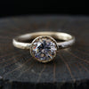 1.5carat diamond bezel ring