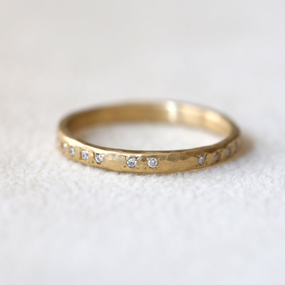 Hammered eternity band
