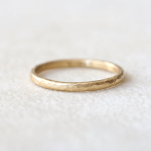 1.6mm hammered band