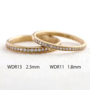 1.8mm half eternity ring