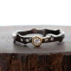 Black Rhodium Plated Ring