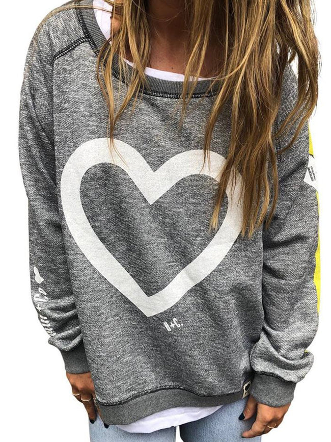 Long Sleeve Geometric Printed Casual Sweatshirts