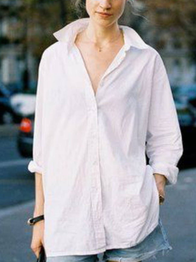 White Plain Casual Shirts & Tops