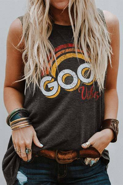 Good Vibes Rainbow Tank Top