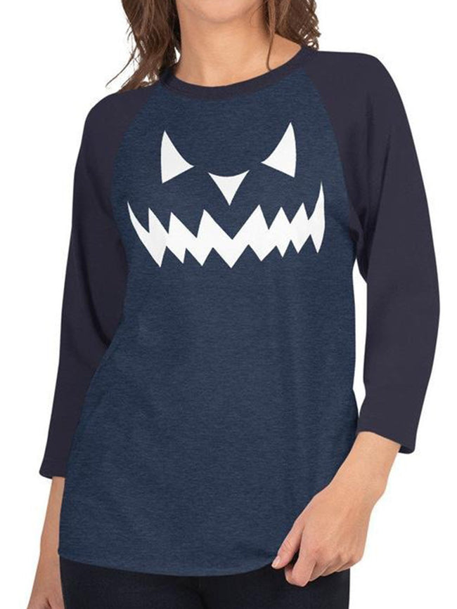 Halloween Printed Plus Size Long Sleeve Casual Tops
