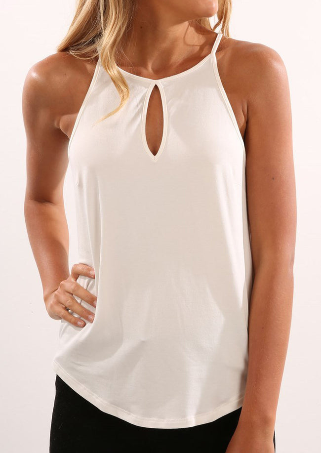 Solid Hollow Out Camisole
