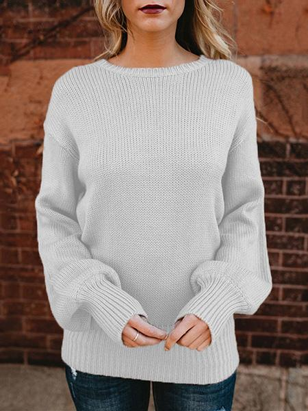 Women Winter Bowknot Backless Chunky Knitted Sweater