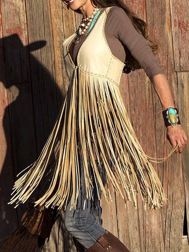 Fringed Casual Shirts & Tops