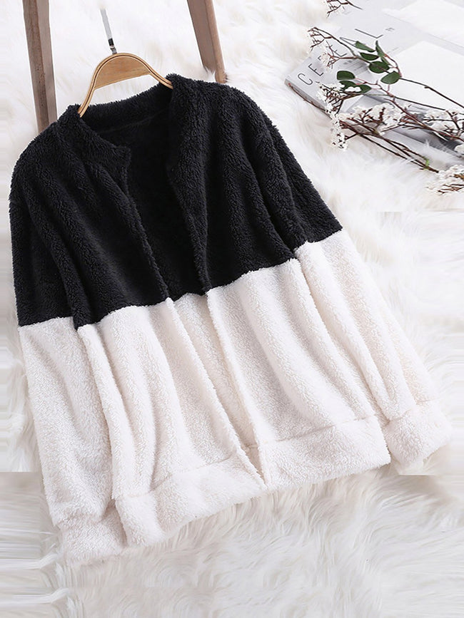 Stand Collar Long Sleeve Sweet Coats