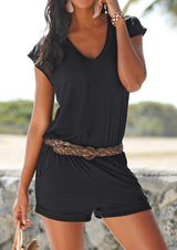 Stylish Solid Romper