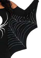 Leg Avenue Women's Spiderweb Casual Halloween Jersey Dress