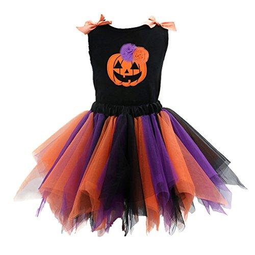 Kids Girls Halloween Dresses Sleeveless