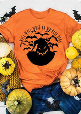 Halloween Well Well What Do We Have Here T-Shirt Tee - Orange