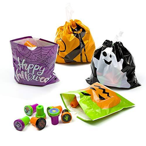 iFUNow 72 Pack Halloween Bags Bulk for Halloween Goodie Bags