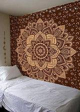 New Launched Blue Gold Passion Ombre Mandala Tapestry By Madhu International,