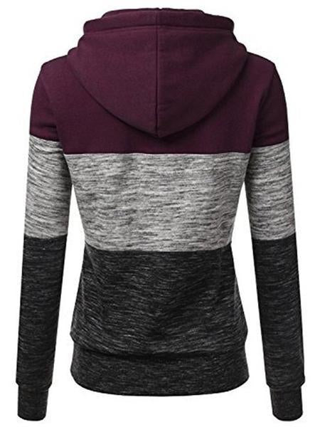 Sports-Womens Fashion Long Sleeve Fleece Pullover Hoodie