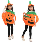Idefair Halloween Pumpkin Costume 3 PCS for Kids Boys Girls, Party Fancy Dress Cosplay Party Clothes Orange