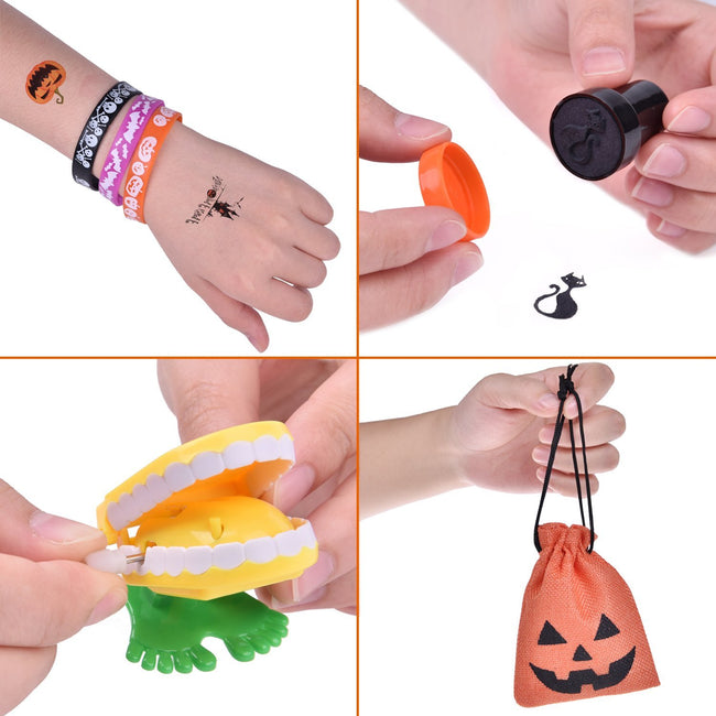 FUN LITTLE TOYS 72 PCs Halloween Party Supplies Toy Assortment Goody Bags